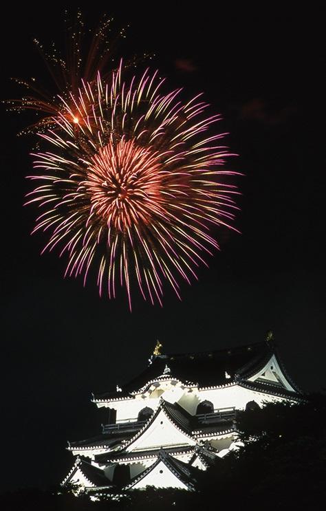 彦根城 花火